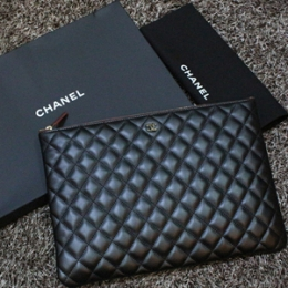 [Chanel] 15fw Clutch Lambskin Gold No.21