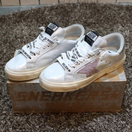 [Golden Goose] 15fw Woman May Pinkstar Low G27D127 D1