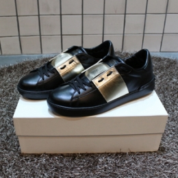 [Valentino] Hidden Open Low Black/Gold JY0S0830TLV N95