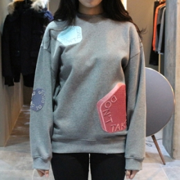 [Acne] 15fw Beta Allover Sweatshirt Gray 1HU153