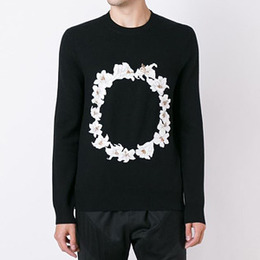 [Givenchy] 16fw FLOWERS CREWNECK KNIT 16F7505505 001