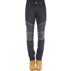[Saint Laurent] 17ss LeatherPannel Baike Jean 456698 Y869L 1000