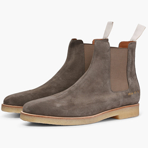 [Common Projects] 17fw Suede Chelsea boots Warm Grey 2018 5472