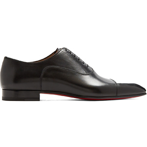 해외배송 [Christian Louboutin] 18ss Greggo leather oxford shoes Black
