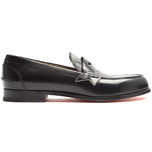 해외배송 [Christian Louboutin] 18ss Monono leather penny loafers Black