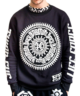 [KTZ]life force black and white sweatshirt