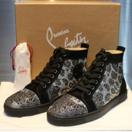 [Christian Louboutin]Swarovski Leopard High-top Black