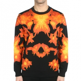 [Givenchy]Fire Sweatshirt Cuban Fit