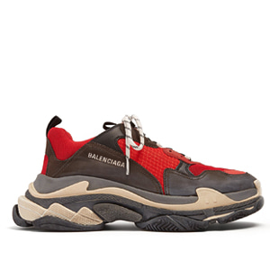 18ss Men Triple S Trainers Red