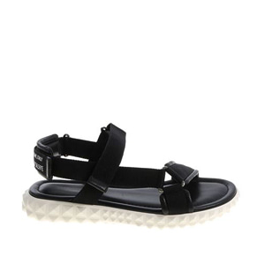 [Valentino]18ss leather and fabric sandals PY2S0A60RLM